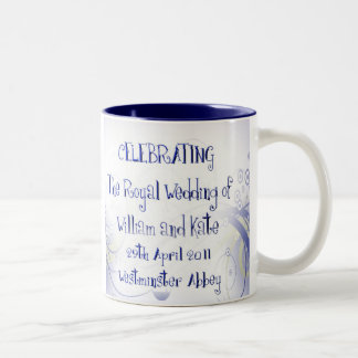 William & Kate Royal Wedding Collectibles Souvenir Two-Tone Coffee Mug