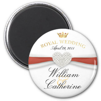 William & Kate - Royal Wedding Commemorative Gift 2 Inch Round Magnet