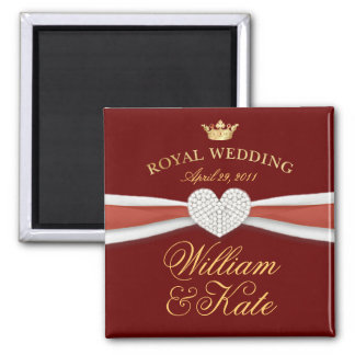 William & Kate - Royal Wedding Commemorative Gift 2 Inch Square Magnet