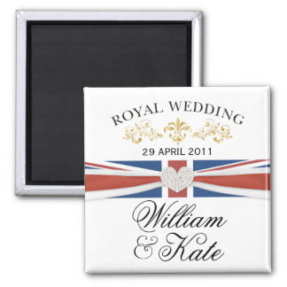 William & Kate Royal Wedding Commemorative Gift 2 Inch Square Magnet