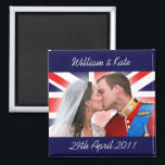 """William &amp; Kate Royal Wedding Kiss Magnet<br><div class=""""desc"""">A tribute to the royal couple -- Prince William and Catherine &quot;Kate&quot; Middleton,  now the Duke &amp; Duchess of Cambridge.  Celebrate the wedding of the century and support Britain&#39;s future king and queen!</div>"""