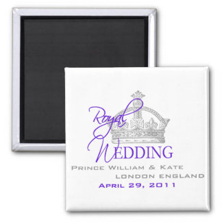 William & Kate Royal Wedding 2 Inch Square Magnet