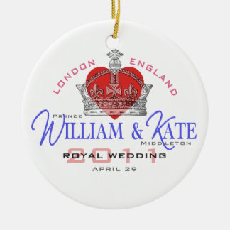 William Kate Royal Wedding Christmas Ornaments