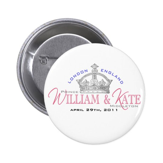 William & Kate Royal Wedding Pinback Button