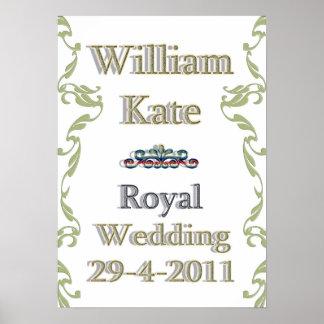 William Kate Royal Wedding Poster