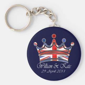 William & Kate Wedding Basic Round Button Keychain