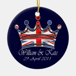 William & Kate Wedding Ceramic Ornament