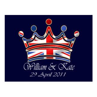 William & Kate Wedding Postcard
