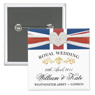 William Kate Wedding Souvenir Pins