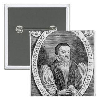 William Laud, 1646 2 Inch Square Button