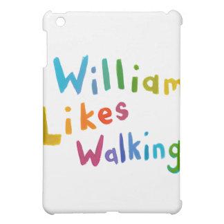 William Likes Walking fun word art for Bill iPad Mini Cover