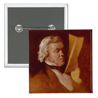 William Makepeace Thackeray, c.1864 2 Inch Square Button