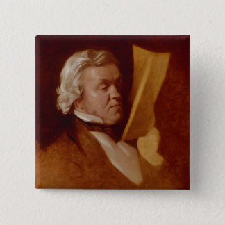 William Makepeace Thackeray, c.1864 Pinback Button