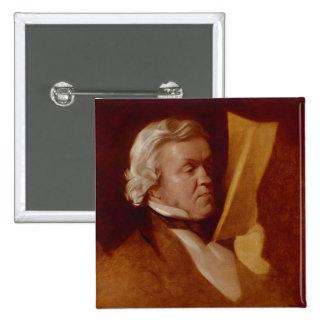 William Makepeace Thackeray, c.1864 Pinback Button
