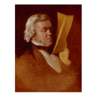 William Makepeace Thackeray, c.1864 Postcard