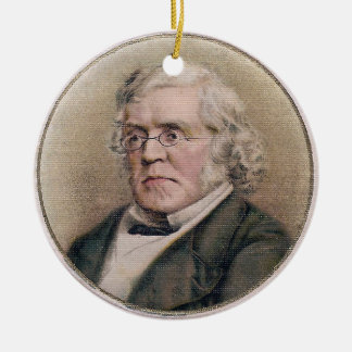 William Makepeace Thackeray Double-Sided Ceramic Round Christmas Ornament