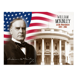 William McKinley -  25th President of the U.S. Postcard