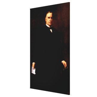 WILLIAM McKINLEY by Harriet Anderson Stubbs Murphy Stretched Canvas Prints