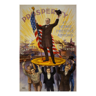 William McKinley Campaign Poster Gold Standard