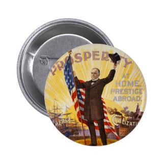 William McKinley Campaign Poster Gold Standard Button