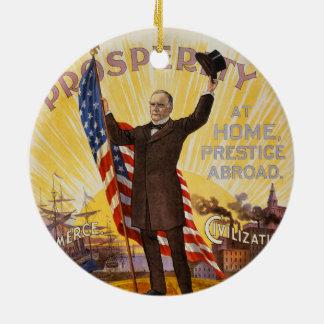 William McKinley Campaign Poster Gold Standard Ceramic Ornament