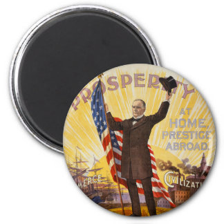 William McKinley Campaign Poster Gold Standard Magnet