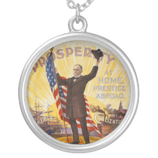 William McKinley Campaign Poster Gold Standard Pendant