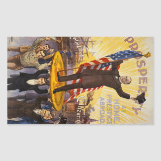William McKinley Campaign Poster Gold Standard Rectangular Sticker