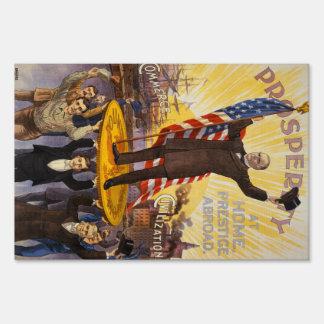 William McKinley Campaign Poster Gold Standard Yard Sign