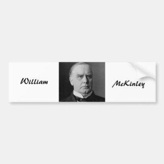 William McKinley Pegatina Para Auto