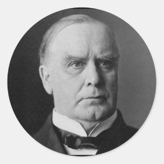 William McKinley Pegatina Redonda