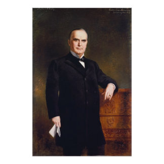 WILLIAM McKINLEY Portrait by August Benziger Print