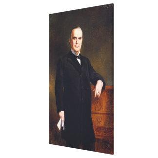 WILLIAM McKINLEY Portrait by August Benziger Print Canvas Print