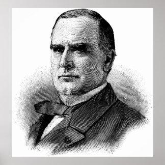 WILLIAM McKINLEY Sketch Beginners American History Poster