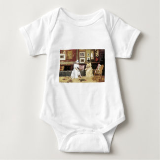 William Merritt Chase A Freindly Call Baby Bodysuit