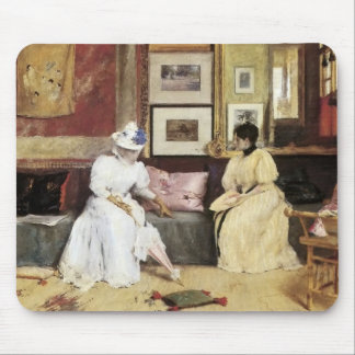 William Merritt Chase A Freindly Call Mouse Pad
