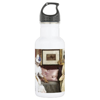 William Merritt Chase A Freindly Call 18oz Water Bottle
