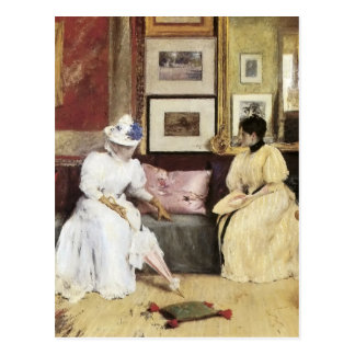 William Merritt Chase A Freindly Call Postcard