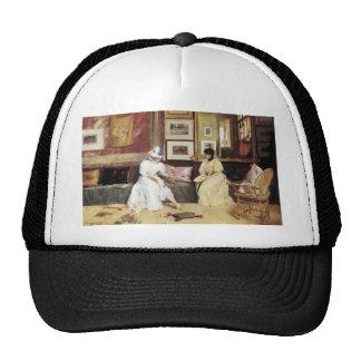 William Merritt Chase A Freindly Call Trucker Hat