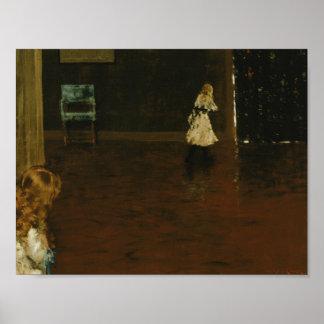 William Merritt Chase - Hide and Seek Poster