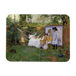 William Merritt Chase - Open Air Breakfast Magnet