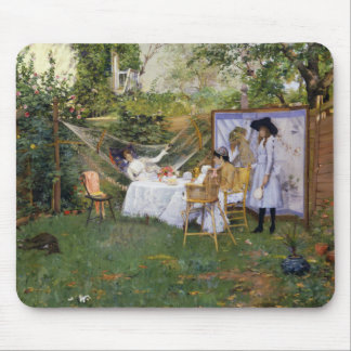 William Merritt Chase - Open Air Breakfast Mouse Pad