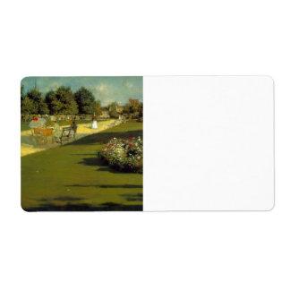 William Merritt Chase - Prospect Park Shipping Label