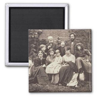 William Morris (1834-96) Sir Edward Burne-Jones (1 2 Inch Square Magnet