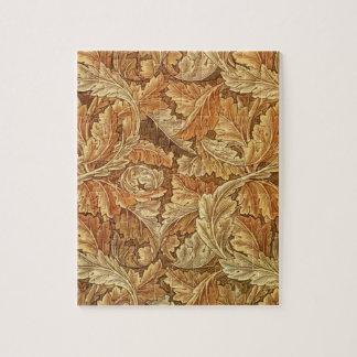 William Morris Acanthus Brown Artwork Jigsaw Puzzle