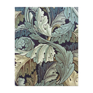 William Morris Acanthus Floral Wallpaper Design Canvas Prints