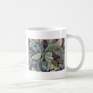 William Morris Acanthus Floral Wallpaper Design Classic White Coffee Mug