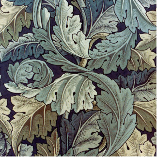 William Morris Acanthus Floral Wallpaper Design Cutout