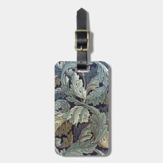 William Morris Acanthus Floral Wallpaper Design Tags For Bags