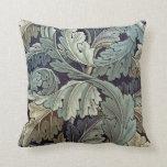 William Morris Acanthus Floral Wallpaper Design Pillow
